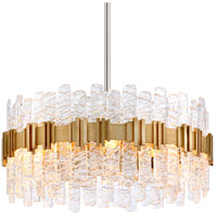 Ciro 8 Light 27 inch Silver Leaf Pendant Ceiling Light