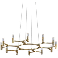 Nexus LED 38 inch Silver Leaf Chandelier Ceiling Light