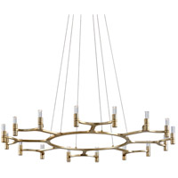 Corbett Lighting 258-016 Nexus LED 50 inch Silver Leaf Chandelier Ceiling Light