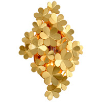 Gigi 2 Light 13 inch Gold Leaf Wall Sconce Wall Light