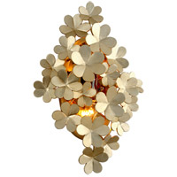 Gigi 2 Light 13 inch Silver Leaf Wall Sconce Wall Light