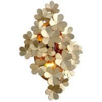 Corbett Lighting 261-14 Gigi 2 Light 13 inch Silver Leaf Wall Sconce Wall Light