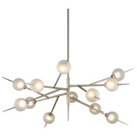 Corbett Lighting 263-012 Tempest LED 56 inch Satin Silver Leaf Chandelier Ceiling Light