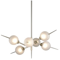 Corbett Lighting 263-06 Tempest LED 35 inch Satin Silver Leaf Chandelier Ceiling Light
