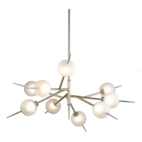 Corbett Lighting 263-09 Tempest LED 42 inch Satin Silver Leaf Chandelier Ceiling Light