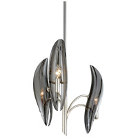 Corbett Lighting 266-03 Sofia 3 Light 17 inch Silver Leaf Chandelier Ceiling Light