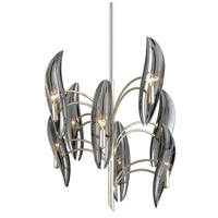 Corbett Lighting 266-08 Sofia 8 Light 27 inch Silver Leaf Chandelier Ceiling Light