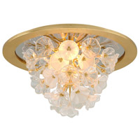 Corbett Lighting 268-31 Jasmine LED 22 inch Gold Leaf Flush Mount Ceiling Light