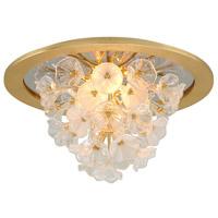 Corbett Lighting 268-31 Jasmine LED 22 inch Gold Leaf Flush Mount Ceiling Light