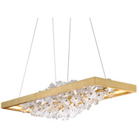 Corbett Lighting 268-51 Jasmine LED 60 inch Gold Leaf Linear Pendant Ceiling Light