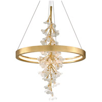 Corbett Lighting 268-71 Jasmine LED 28 inch Gold Leaf Pendant Ceiling Light