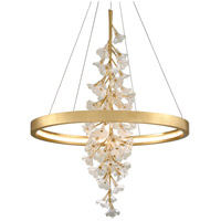 Corbett Lighting 268-72 Jasmine LED 36 inch Gold Leaf Pendant Ceiling Light