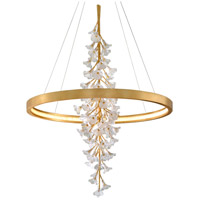 Corbett Lighting 268-73 Jasmine LED 44 inch Gold Leaf Pendant Ceiling Light Circular Frame