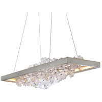 Corbett Lighting 269-51 Jasmine LED 60 inch Silver Leaf Linear Pendant Ceiling Light