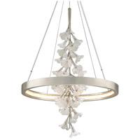 Corbett Lighting 269-71 Jasmine LED 28 inch Silver Leaf Pendant Ceiling Light