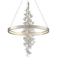 Corbett Lighting 269-72 Jasmine LED 36 inch Silver Leaf Pendant Ceiling Light