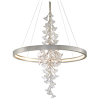 Corbett Lighting 269-73 Jasmine LED 44 inch Silver Leaf Pendant Ceiling Light Circular Frame