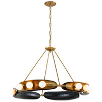 Corbett Lighting 271-012 Hopper 12 Light 41 inch Vintage Brass and Bronze Chandelier Ceiling Light