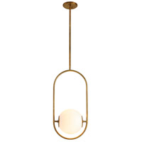 Corbett Lighting 273-42 Everley 1 Light 10 inch Vintage Brass Pendant Ceiling Light