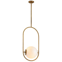 Corbett Lighting 273-43 Everley 1 Light 13 inch Vintage Brass Pendant Ceiling Light