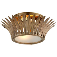 Romanov 2 Light 17 inch Vintage Brass Flush Mount Ceiling Light