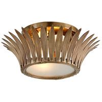 Corbett Lighting 274-32 Romanov 2 Light 17 inch Vintage Brass Flush Mount Ceiling Light