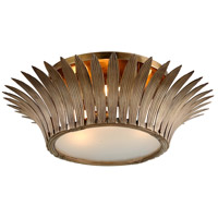 Romanov 3 Light 25 inch Vintage Brass Flush Mount Ceiling Light
