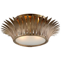 Romanov 3 Light 31 inch Vintage Brass Flush Mount Ceiling Light