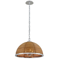 Corbett Lighting 277-43 Carayes 3 Light 21 inch Stainless Steel Chandelier Ceiling Light