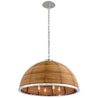 Corbett Lighting 277-48 Carayes 8 Light 31 inch Stainless Steel Chandelier Ceiling Light