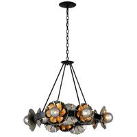 Corbett Lighting 278-010 Magic Garden 10 Light 34 inch Black Graphite and Bronze Leaf Chandelier Ceiling Light