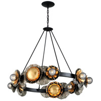 Corbett Lighting 278-016 Magic Garden 16 Light 47 inch Black Graphite and Bronze Leaf Chandelier Ceiling Light