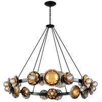 Corbett Lighting 278-024 Magic Garden 24 Light 62 inch Black Graphite and Bronze Leaf Chandelier Ceiling Light