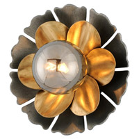 Corbett Lighting 278-13 Magic Garden 1 Light Black Graphite Bronze Leaf Wall Sconce Wall Light