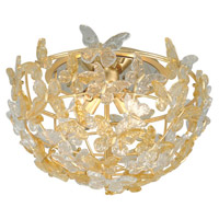 Corbett Lighting 279-34 Milan 4 Light 20 inch Gold Leaf Flush Mount Ceiling Light