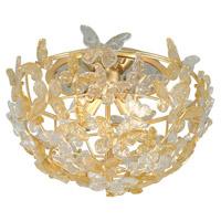 Corbett Lighting 279-34 Milan 4 Light 20 inch Gold Leaf Flush Mount Ceiling Light