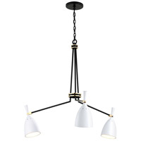 Satin Black and Polished Brass Chandeliers