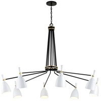 Corbett Lighting 281-08 Utopia LED 64 inch Satin Black and Polished Brass Chandelier Ceiling Light