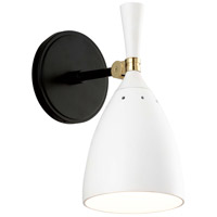 Corbett Lighting 281-11 Utopia LED 6 inch Satin Black and Polished Brass Wall Sconce Wall Light