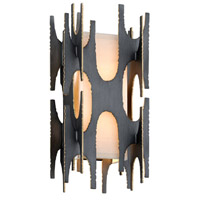 Corbett Lighting 282-12 Confidant 2 Light 8 inch Graphite Leaf with Gold Leaf Highlight Wall Sconce Wall Light