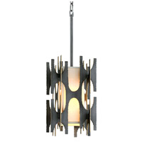 Corbett Lighting 282-41 Confidant 1 Light 10 inch Graphite Leaf with Gold Leaf Highlight Pendant Ceiling Light
