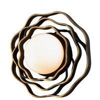 Corbett Lighting 283-11 Luma 1 Light Textured Black with Gold Leaf Highlight Wall Sconce Wall Light