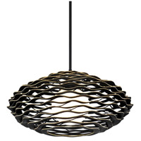Corbett Lighting 283-41 Luma 1 Light 30 inch Textured Black with Gold Leaf Highlight Pendant Ceiling Light
