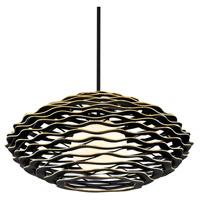 Corbett Lighting 283-42 Luma 1 Light 40 inch Textured Black with Gold Leaf Highlight Pendant Ceiling Light