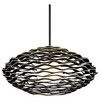 Corbett Lighting 283-43 Luma 1 Light 50 inch Textured Black with Gold Leaf Highlight Pendant Ceiling Light