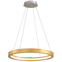 Corbett Lighting 284-41 Jasmine LED 28 inch Gold Leaf Pendant Ceiling Light Circular Frame