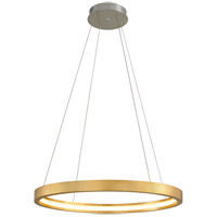 Corbett Lighting 284-42 Jasmine LED 36 inch Gold Leaf Pendant Ceiling Light Circular Frame