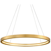 Corbett Lighting 284-43 Jasmine LED 44 inch Gold Leaf Pendant Ceiling Light Circular Frame
