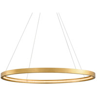 Corbett Lighting 284-44 Jasmine LED 56 inch Gold Leaf Pendant Ceiling Light Circular Frame