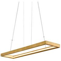 Corbett Lighting 284-51 Jasmine LED 60 inch Gold Leaf Linear Pendant Ceiling Light